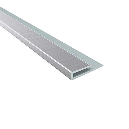 Door Moulding Trim (Fasade - 2ft x 4ft Traditional 4 Brushed Aluminum Glue Up Ceiling Tile/Ceiling Panel - Fast and Easy Installation (48