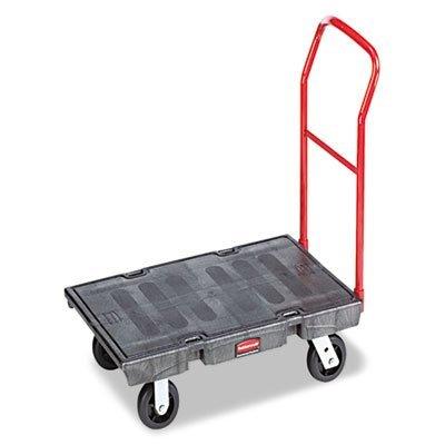 Rubbermaid Platform Trucks (Rubbermaid Commercial Heavy-Duty Platform Truck Cart, 1000 Pound Capacity, 24 x 48 Platform, Black (443600BK))