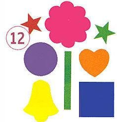 Sticky Shapes - Jumbo Shapes - Package of 225