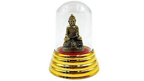 [Brassy statue magic holy Chinese buddha blessed powerful for success and lift protection with amulet] (Chinese Vampire Costume)