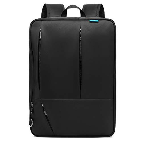CoolBELL Convertible Messenger Bag Backpack Shoulder Bag Laptop Case Handbag Business Briefcase Multi-Functional Travel Rucksack Fits 17.3 Inch Laptop for Men/Women - Black Laptop Inch 17.3