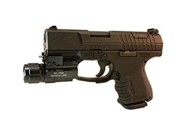 Aimkon HiLight P5S 500 Lumen Sub-compact Pistol LED Strobe Flashlight for with Weaver Quick Release for Glock Series, Sig Sauer, Smith & Wesson, Springfield, Beretta, Ruger, and Heckler & Koch, etc