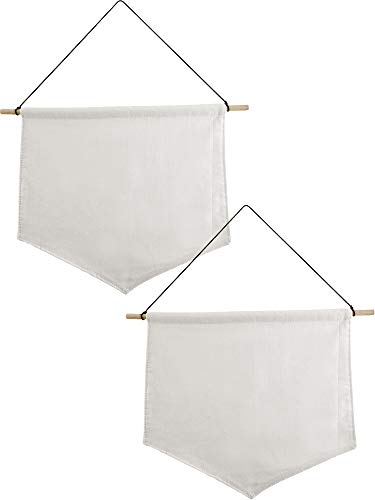 - Jovitec 2 Pieces Wall Display Banners Blank Canvas Banner Enamel Pin Banners (35 x 30 cm)