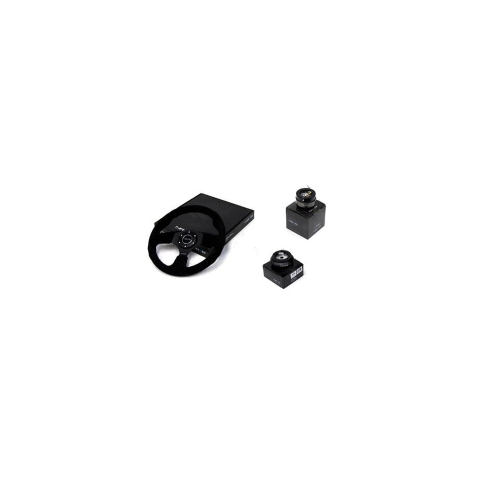 96 00 Honda Civic EK NRG 320MM Steering Wheel + Hub + Quick Release Combo