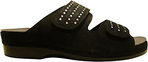 Helle Comfort Helle Fashion Comfort Women's TALASI Black 2 Velcro Slide Size 38 by Helle Comfort