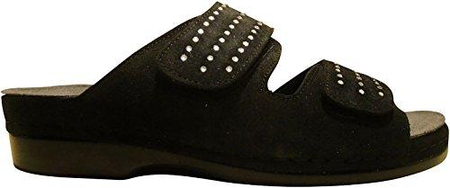 Helle Comfort Helle Fashion Comfort Women's TALASI Black 2 Velcro Slide Size 38 by Helle Comfort (Image #1)