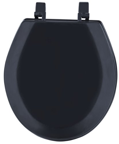 Achim Home Furnishings TOWDSTBK04 17-Inch Fantasia Standard Toilet Seat, Wood Black