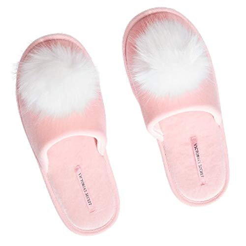 - SOLD OUT VICTORIA SECRET COZY SHERPA PALE PINK FUZZY POM POM SLIPPERS SIZE MEDIUM. 7-8. WOMANS