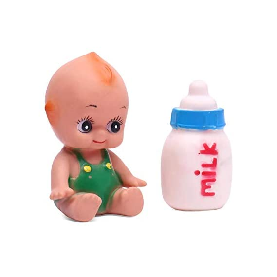 RATNA'S Squeezy Baby with Bottle Premium Quality Non Toxic Baby Squeezy Toys for Playtime and BATHTIME Fun