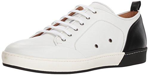 - Bacco Bucci Men's Totti Sneaker, White/Black, 090 D US
