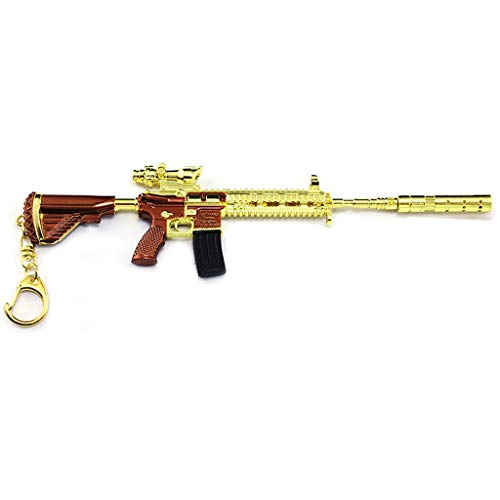 Used, Gold M416 Assault Rifle Gun Model 1/6 Scale M416 Keychain for sale  Delivered anywhere in USA