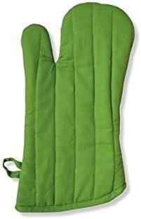 A'Domo PV-TEX-2096 Point-Virgule, Guante de horno, Algodón, Verde, 19 x 33 cm