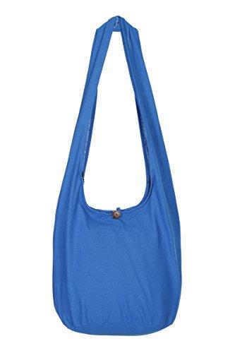 Boho de diseño Sling mano bolso hombro de bolsa Tailandés Hippie algodón nbsp;– nbsp;100 de de Bolsa viaje Gypsy Azul flores q4a6XfxSw
