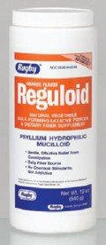 Bulk Forming Laxatives - Reguloid Natural Vegetable Bulk-forming Laxative, Orange Flavor Powder- 19 Oz by RUGBY LABORATORIES