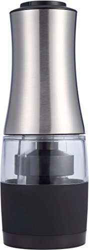 Pro Chef Kitchen Tools Stainless Steel Salt and Pepper Grinder - 2 in 1 Adjustable Grind Mill Battery Operated in Gift Box