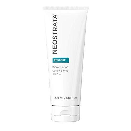 NEOSTRATA RESTORE Bionic Face Moisturizer, Neck & Body Lotion - Vitamin E, 15% Polyhydroxy Acid (PHA), Meadowfoam Seed Oil, Glycerin - Lightweight, Anti-Aging; Improves Dryness, Redness & Eczema 6.8oz