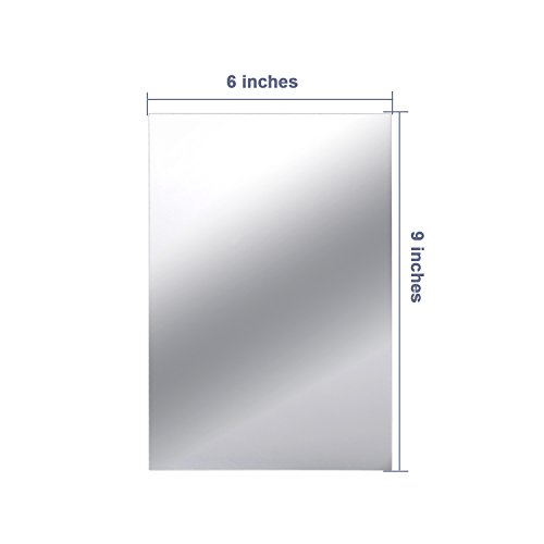 9 Pieces Mirror Sheets Self Adhesive Non Glass Mirror Tiles Wall Sticky Sfhs Org