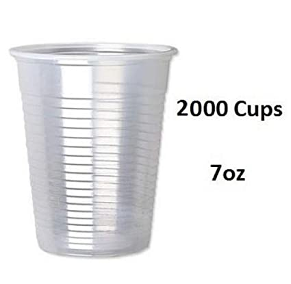 PLASTIC WHITE Disposable Cups 7oz SMALL 190ml Birthday Party Event Water Drinks