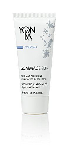 YON-KA ESSENTIALS GOMMAGE 305 Exfoliating, Clarifying Gel (1.8 Ounce / 50 Milliliter) - Delicate Exfoliation and Balancing Action for Dry and Sensitive (Firm Action Mask Masks)