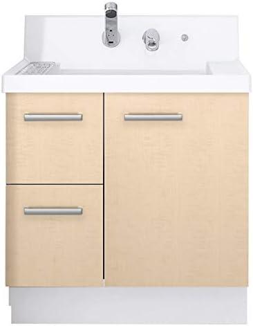 イナックス(INAX) 洗面化粧台 K1シリーズ 幅75cm 片引出タイプ シングルレバーシャワー水栓 K1H4-755SYN 寒冷地用 シカモアベージュ(YL2H)