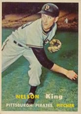 1957 Topps Regular (Baseball) Card# 349 Nelson King of the Pittsburgh Pirates VGX Condition