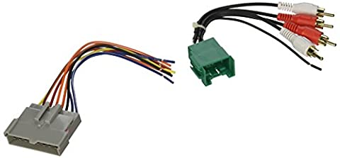 SCOSCHE FDK7B 1998-04 Ford Premium Sound retention wire harness kit; Power and RCA to Dash/Amp (1996 Ford Explorer Radio Harness)