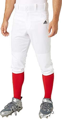 adidas Men's Triple Stripe Knicker Baseball Pants (White, Medium)