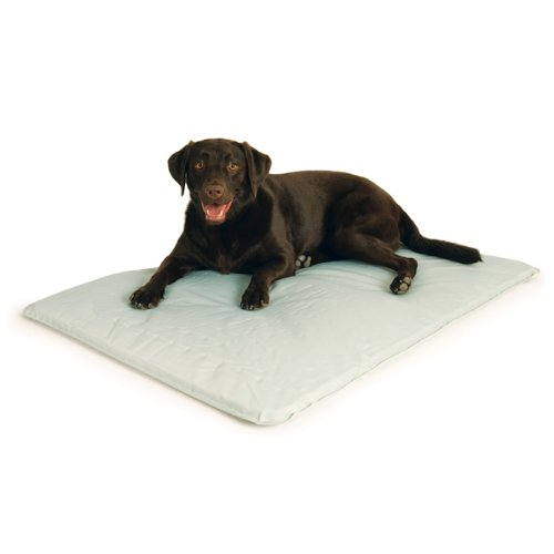 KandH Cool Bed III Cooling Dog Bed, Large, 32-Inches by 44-Inches, Gray, My Pet Supplies
