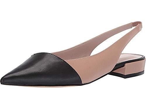 Nine West Womens Forlove Flat Barely Nude/Black 10 M (Woman Shoes Flat Nine West)