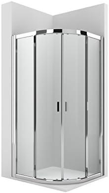 Roca AM14008012 - Mampara de ducha cuartocircular con dos puertas ...