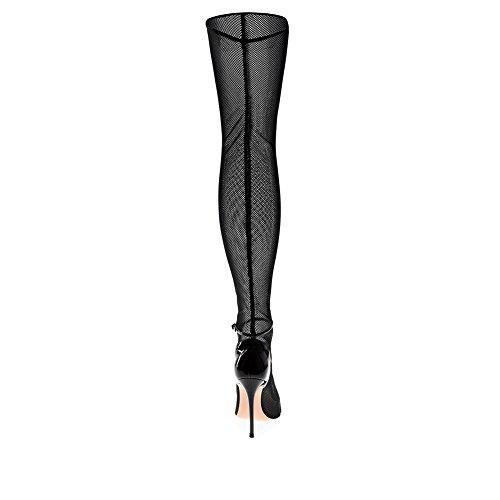 Zapatos Negro Gamuza Heel para Stiletto Heel Un Sandalias Verano de Fiesta Zapatos y Boda Tubo Mujer Botas Caminar Confort Pointed de Largo Vestido Noche q6WC0xwEB