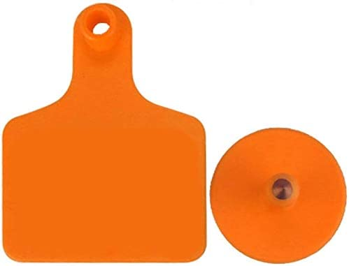 100TPU Laser Curve Rind Ohrmarke Tagger Kupfer Head orange ohne Nr.