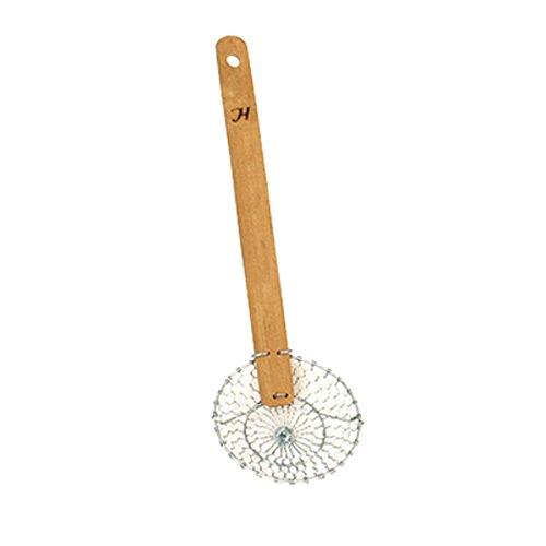 Skimmer Steel Fine Galvanized Mesh (Thunder Group SLSKR104GV Galvanized Bamboo Handled Skimmer, 4-Inch, Fine Mesh)