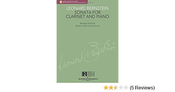 with a CD of Recorded Performance and Accompaniment Sonata for Clarinet and Piano
