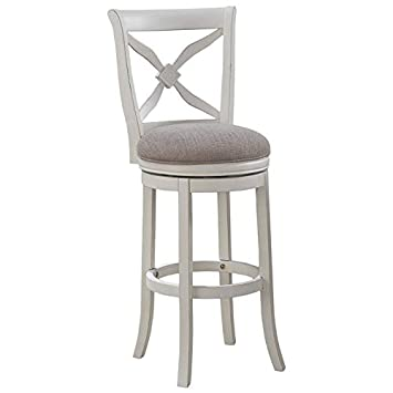 Enjoyable Amazon Com Bowery Hill 30 Swivel Bar Stool In Distressed Pdpeps Interior Chair Design Pdpepsorg