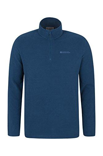 Mountain Warehouse Mens Camber Fleece - Light All Season Jacket Petrol Blue - Warehouse Men For