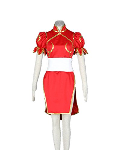 Love Capcom Anime Cosplay Costume-SF Chun Li 3Pcs