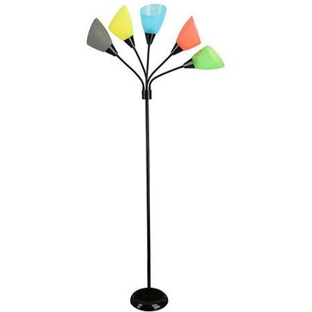 Your Zone 5-light Floor Lamp (Black Finish Multicolored)