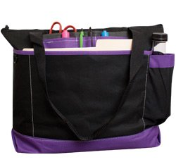 Avenue Tote Bag (Assorted Colors) (Black/Purple)