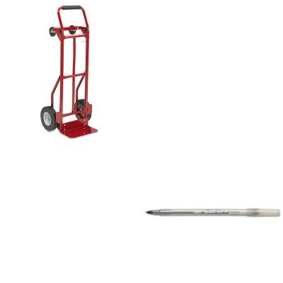 KITBICGSM11BKSAF4086R - Value Kit - Safco Two-Way Convertible Hand Truck (SAF4086R) and BIC Round Stic Ballpoint Stick Pen (BICGSM11BK) (Hand Truck Way Two Convertible)