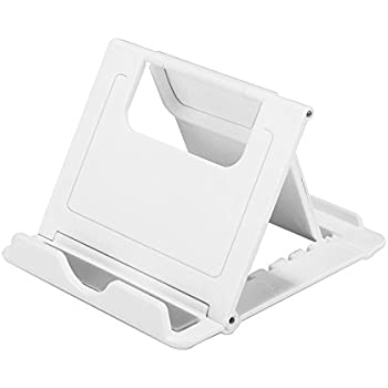 Desk Cell Phone Stand Tablet Stand, Universal Foldable Multi-Angle iPhone Stand Desktop Phone