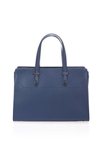 Fabricado amp;apos Some En Quot;eleonora Bolso De Azul Mujer Italiana Shopper Cuero Italia Show Love Piel Henkel Funda BOxqqw4