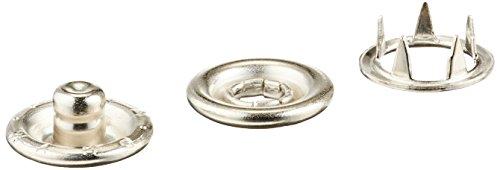 Dritz 116-65 Snap Fasteners 16: 7/16 in, (Pack of 12), Nickel