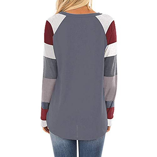 Amazon.com : Clearance!HOSOME Women Pullover Tops Casual Color Block Long Sleeve Loose Tunic Sweatshirt : Grocery & Gourmet Food