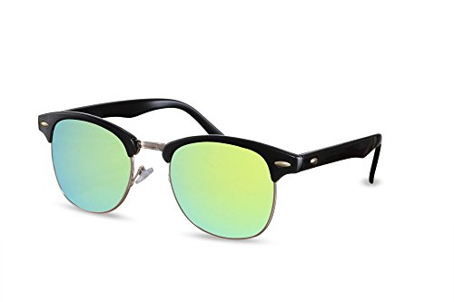 Ca Clubmaster Sunglasses Miroitant Femmes Cheapass Rétro Hommes 012 Noir x4Uqn5fYF