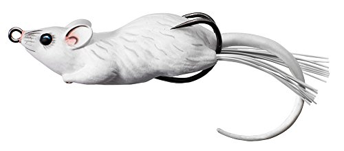 Koppers Floating Mouse Lure, 3-1/2-Inch, 1-Ounce, White/White