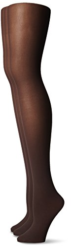 Waist Opaque Tight - No Nonsense Women's Opaque Sheer to Waist Tight 3-Pack, Espresso, X-Large