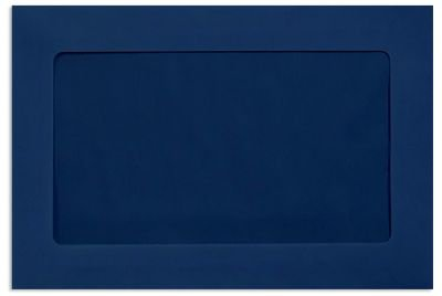 6 x 9 Full Faced Window Envelopes - 80lb. Navy Blue (50 Qty.) | Perfect for Tax Season, Sending Pamphlets, Brochures and so much More! | Printable | 80lb Paper | FFW-69-103-50