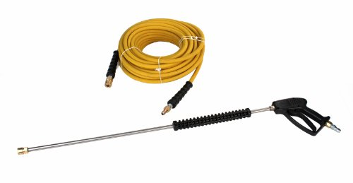 Schieffer 4000 PSI 3/8'' x 100' Animal Fat Resistant Pressure Washer Hose and Gun Kit by Schieffer Co.
