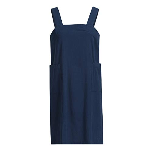 cf7be9a3f2 Mlide Ladies Solid Color Apron Dress